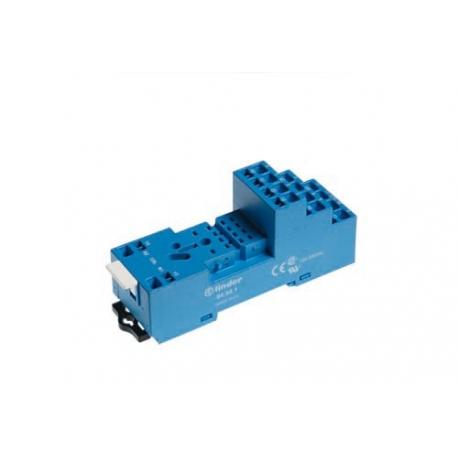 Gniazdo do serii 55.32/55.34/85.02/85.04,  modułów 99.80, zaciski sprężynowe (samozaciskowe), montaż na szynę DIN 35mm
