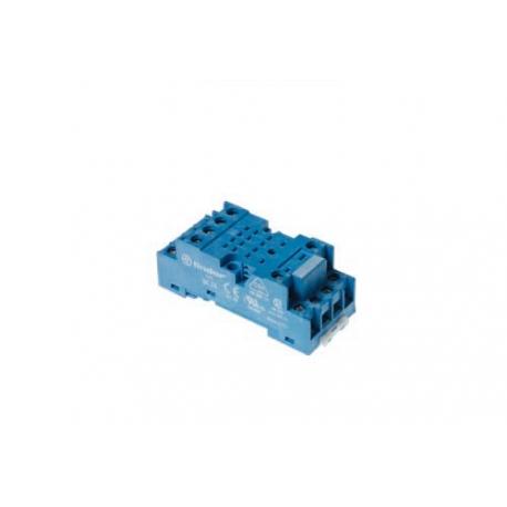 Gniazdo do serii 55.32/85.02,  modułów 99.01, zaciski śrubowe, montaż na szynę DIN 35mm, (klip metalowy)
