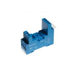 Gniazdo do serii 55.32/55.34/85.02/85.04, modułów 99.80, zaciski śrubowe, montaż na szynę DIN 35mm, (klip plastikowy)