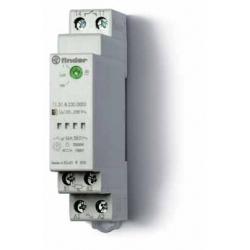 Wyłącznik zmierzchowy, 1 zestyk zwierny (1Z 16A), 230V AC, obudowa modułowa (1S 17,5 mm) IP20 +czujnik zewnętrzny IP54, 1-100 lx