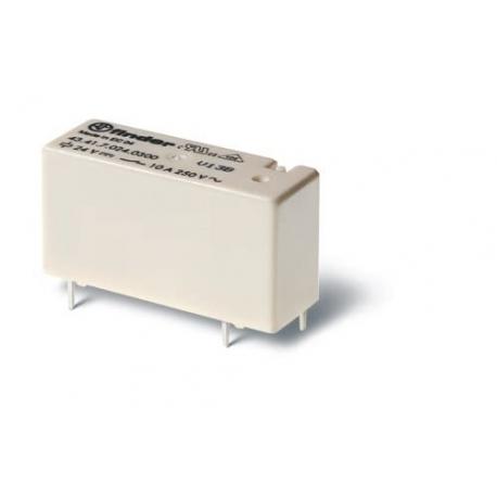 Przekaźnik 1Z 10A 12V DC, styk AgNi+Au