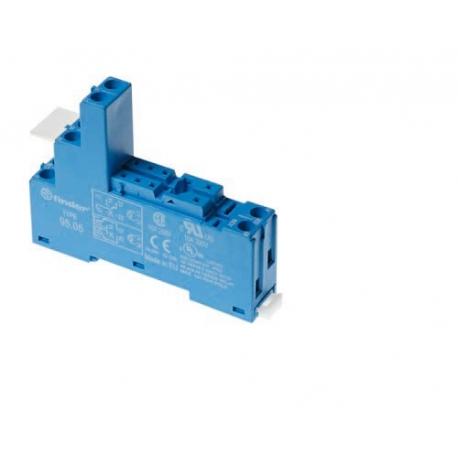 Gniazdo do przekaźników serii 40.31, modułów 99.02, 86.30, zaciski śrubowe, montaż na szynę DIN 35mm (klip plastikowy)