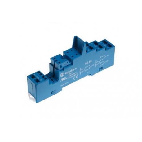 Gniazdo do przekaźników serii 40.51/40.52/40.61/44.52/44.62, modułów 99.02, 86.30, zaciski sprężynowe (samozaciskowe), montaż na