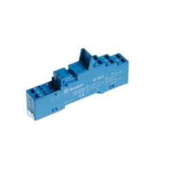 Gniazdo do przekaźników serii 40.51/40.52/40.61/44.52/44.62, modułów 99.80, zaciski sprężynowe (samozaciskowe), montaż na szynę