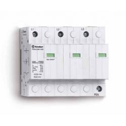 Ogranicznik przepięć kat. B+C , Up – 1,5kV, nominalne napięcie robocze 230VAC, kombinacja 3x warystor+iskiernik (L-PEN),  zestyk