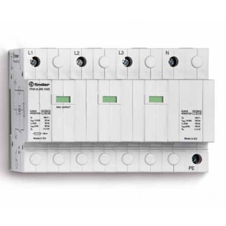Ogranicznik przepięć kat. B+C, Up – 1,5kV, nominalne napięcie robocze 230VAC, kombinacja 3x warystor+iskiernik+iskiernik (L-N/N-