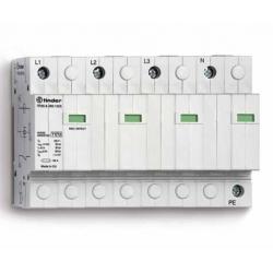 Ogranicznik przepięć kat.  B+C, Up – 1,5kV, nominalne napięcie robocze 230VAC, kombinacja 4xwarystor+iskiernik ,  zestyk przełąc