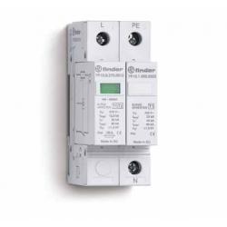 Ogranicznik przepięć kat. B, Up – 1,2/1,5kV, nominalne napięcie robocze 230VAC, warystor + iskiernik (L-N/N-PE), zestyk przełącz