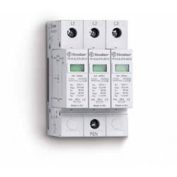 Ogranicznik przepięć kat. B, Up – 1,2kV, nominalne napięcie robocze 230VAC, 3xwarystor (L-PEN), zestyk przełączny na wyjściu 1P