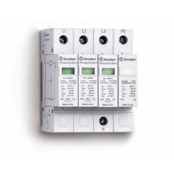 Ogranicznik przepięć kat. B, Up –  1,2kV, nominalne napięcie robocze 230VAC, 3xwarystor+iskiernik (L-N/N-PE), zestyk przełączny