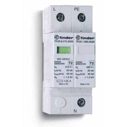 Ogranicznik przepięć kat. C, Up –1,2/1,5kV, nominalne napięcie robocze 230VAC, warystor+iskiernik (L-N/N-PE), zestyk przełączny