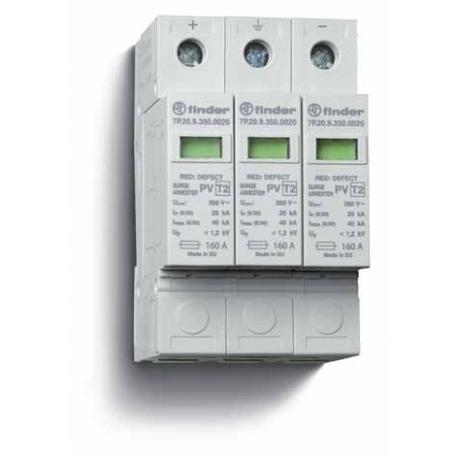 Ogranicznik przepięć kat. C, Up –  1,2kV, nominalne napięcie robocze 700VDC, 3xwarystor,  zestyk przełączny na wyjściu 1P