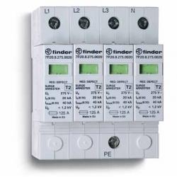 Ogranicznik przepięć kat. C, Up –1,2kV, nominalne napięcie robocze 420VDC,2xwarystor+iskiernik, zestyk przełączny na wyjściu 1P