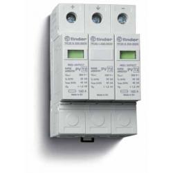Ogranicznik przepięć kat. C, Up –  1,2/1,5kV, nominalne napięcie robocze 1000VDC, 2xwarystor+iskiernik, zestyk przełączny na wyj