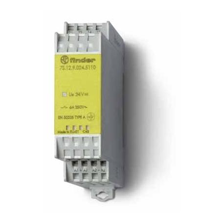 Modułowy przekaźnik bezpieczeństwa 1Z + 1R