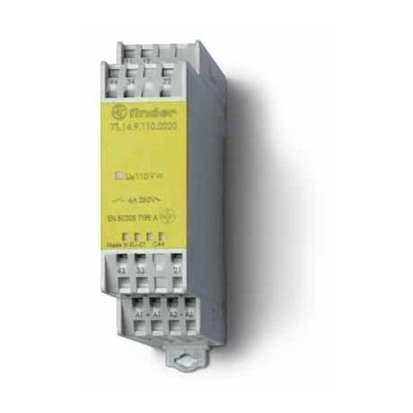 Modułowy przekaźnik bezpieczeństwa 2Z + 2R