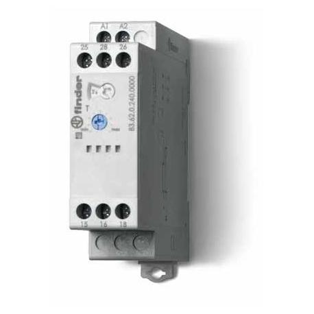 Przekaźnik czasowy jednofunkcyjny BI, zakresy czasowe od 0,05s do 180s, sterowanie 24...240VAC/DC, wyjście przekaźnik 2P 8A 250V