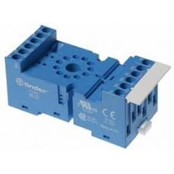 Gniazdo do przekaźników serii 60.13, 88.02, modułów czasowych 86, modułów 99.02, zaciski śrubowe, montaż na szynę DIN 35mm lub p