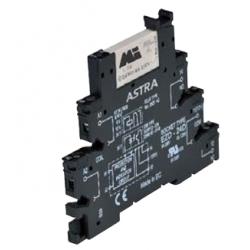 Przekaźnikowy moduł sprzęgający 6,2mm, 1P 6A 24V AC/DC, zaciski śrubowe, ASTRA-24AD-RM24