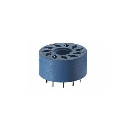 Gniazdo do przekaźników serii 60.12, 88.12 do płytki drukowanej (średnica 17,5mm)