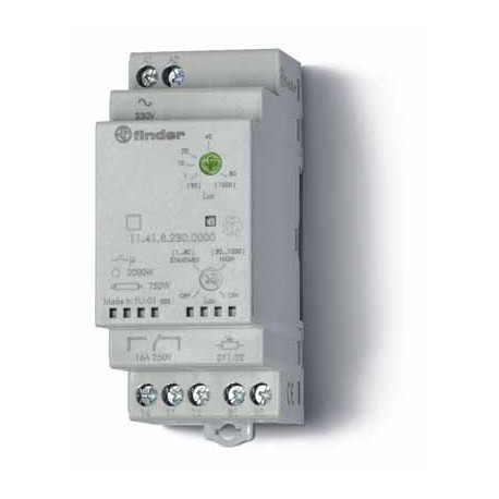 Wyłącznik zmierzchowy, 1 zestyk przełącznyy (1P 16A), 230V AC, obudowa modułowa (2S 35 mm) IP20 +czujnik zewnętrzny IP54, 1-80 l