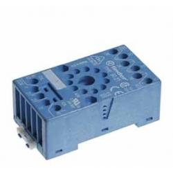 Gniazdo do przekaźników serii 60.12, 88.12, modułów 99.01, zaciski śrubowe, montaż na szynę DIN 35mm lub płytę