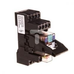 Przekaźnik przemysłowy kompletny 4P 24V DC na szynę 35mm z sygnalizacją LED LZS:PT5A5L24