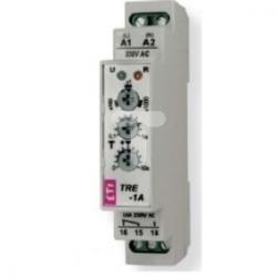 Przekaźnik czasowy modułowy 1sek-10000sek 1P 16A 230V AC opóźnione załączenie TRE-1A 002470027