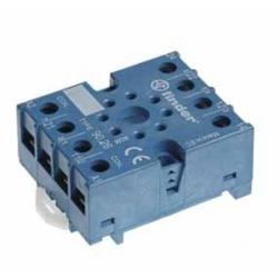 Gniazdo do przekaźników serii 60.13, 88.02, zaciski śrubowe, montaż na szynę DIN 35mm lub płytę
