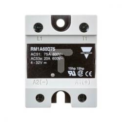 Przekaźnik półprzewodnikowy jednofazowy 75A 24-660V AC 4-32V DC RAM1A60D75