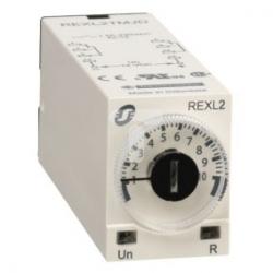 Przekaźnik czasowy opóźniający załączenie- 0,1 s..100 h, 230 V AC, 2 OC REXL2TMP7