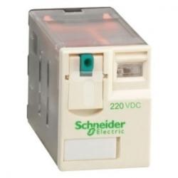 Przekaźnik wtykowy miniaturowy, Zelio RXM, 4 styki przełaczne, 220 V DC RXM4AB1MD