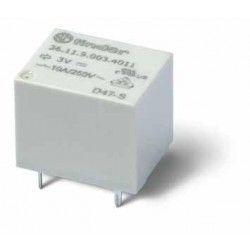 Przekaźnik 1Z 10A 18V DC, styk AgSnO2, RTIII, 36.11.9.018.4301