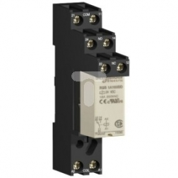 Przekaźnik interfejsowy wtykowy+gniazdo, Zelio RSB, 2 OZ, 24 V AC RSB2A080B7S