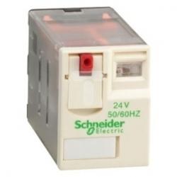 Przekaźnik wtykowy miniaturowy, Zelio RXM, 3 styki przełaczne, 24 V AC RXM3AB1B7