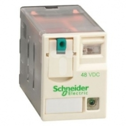 Przekaźnik wtykowy miniaturowy, Zelio RXM, 3 styki przełaczne, 48 V DC -dioda LED RXM3AB2ED