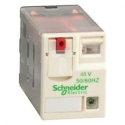Przekaźnik wtykowy miniaturowy Zelio RXM-4 styki przełaczne, 48 V AC, dioda LED RXM4AB2E7