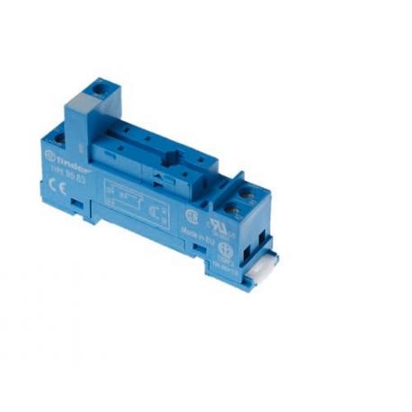 Gniazdo do przekaźników serii 40.31, zaciski śrubowe, montaż na szynę DIN 35mm (klip metalowy)