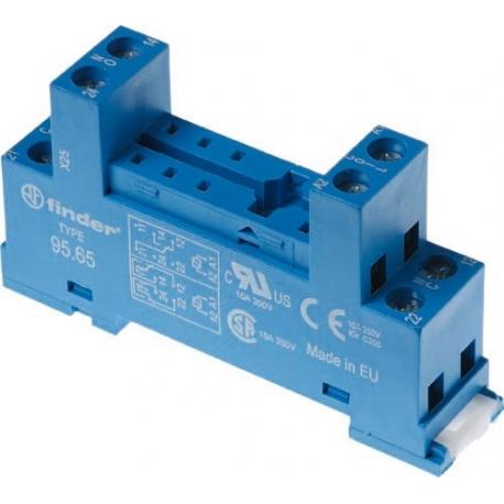 Gniazdo do przekaźników serii 40.51/40.52/40.61/44.52/44.62, zaciski śrubowe, montaż na szynę DIN 35mm (klip metalowy)