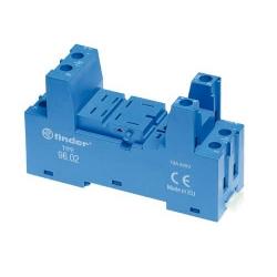 Gniazdo do przekaźników serii 56.32, modułów 99.02 i 86.30, zaciski śrubowe, montaż na szynę DIN, 96.02 SPA