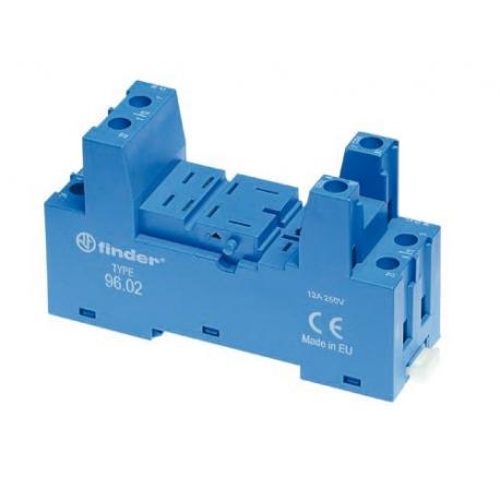 Gniazdo do przekaźników serii 56.32, modułów 99.02 i 86.30, zaciski śrubowe, montaż na szynę DIN (klip plastikowy)