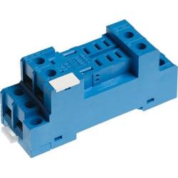 Gniazdo do przekaźników serii 56.34, modułów 99.01, zaciski śrubowe, montaż na szynę DIN (klip metalowy)